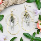 Ocean Jasper and Brass Earrings