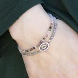 Pave and Tiny Gemstone Bracelet