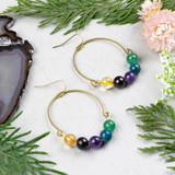 Jewel Tone Hoop Earrings