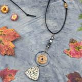 Dalmatian Jasper Triangle Pendant Necklace