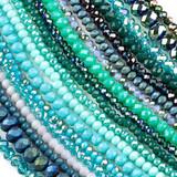 Crystal Rondelles - 15 inch strands