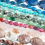 Gemstone Oval Beads