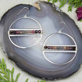 Tiny Gemstone Wrapped Earrings