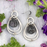 Rough Labradorite Teardrop Earrings