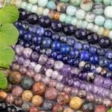 Large Hole Gemstone Beads