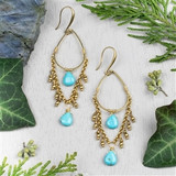 Turquoise Howlite Teardrop Earrings