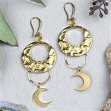 Brass Moon Earrings