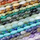 Gemstone Rice Beads