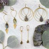 Labradorite and Smoky Quartz Earring Collection