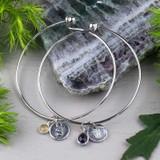 Motherhood Birthstone Bangle Bracelets