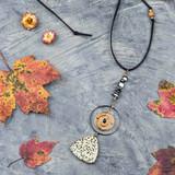 Triangle Gemstone Pendant Necklace