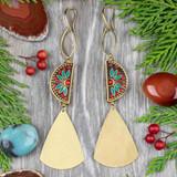 Tibetan & Brass Earrings
