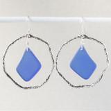 Sea Glass and Hoop Earrings