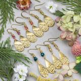 Colorful Brass Teardrop Earrings