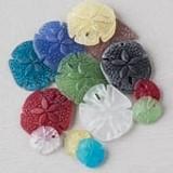 Matte Glass (Sea Glass Style) Sand Dollar Pendants