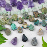 Rough Gemstone Beads & Pendants