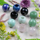 Extra Large Hole Gemstone Beads