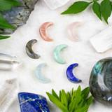 Gemstone Moon Pendants