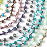 Hand Knotted Crystal Necklaces