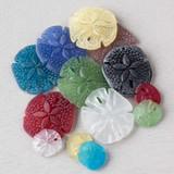 Sea Glass Sand Dollar Pendants