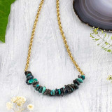 Chrysocolla Chips Necklace