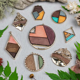 Mosaic Wood Pendants