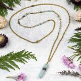 Amazonite Hexagonal Point Necklace
