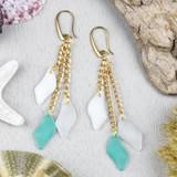 Sea Glass Dangle Earrings