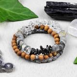 Gemstone Chip Stacking Bracelets