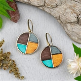 Mosaic Wood Earrings