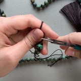 Knotting Mala with Nylon Cord