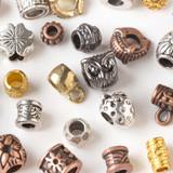 Large Hole Pewter Beads