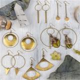 Brass Component Earrings