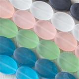 Matte Glass (Sea Glass Style) Ovals