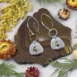 Silver and Smoky Quartz Earrings
