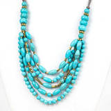 Turquoise Howlite Multi Strand Necklace