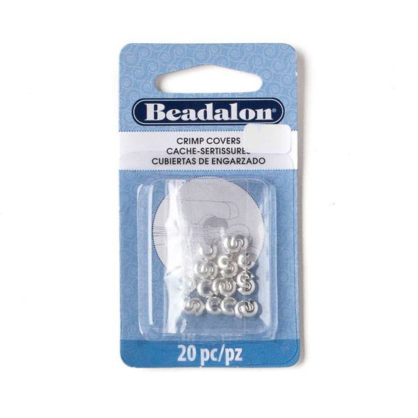 Silver Plated 4mm Crimp Covers - 20 pieces - 349B-010