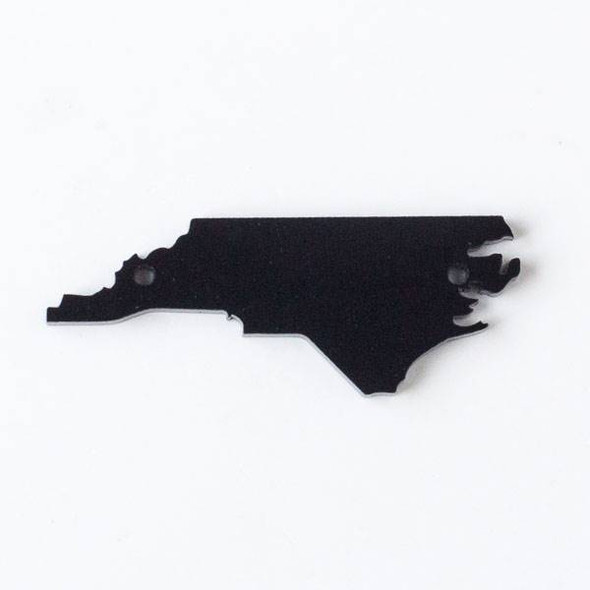 North Carolina Acrylic 20x54mm Black State Link - 1 per bag