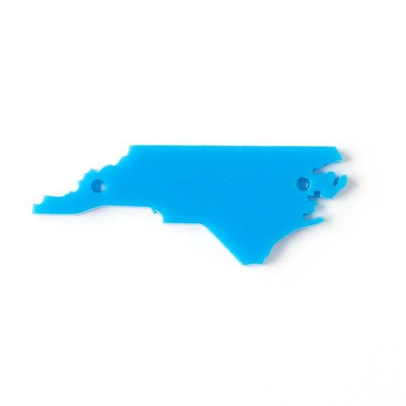 North Carolina Acrylic 20x54mm Panther Blue State Link - 1 per bag