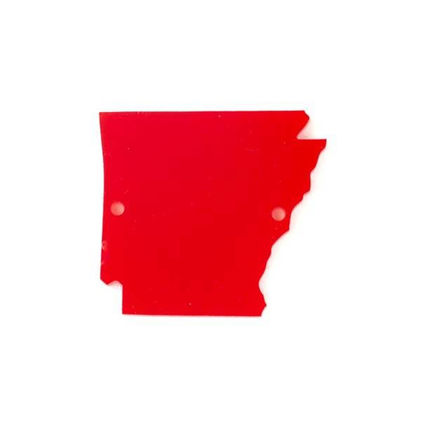 Arkansas Acrylic 35x39mm Red State Link - 1 per bag