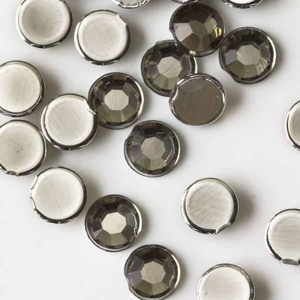 4mm Black Diamond Flat Back Acrylic Crystals