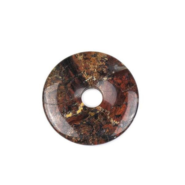 African Red Brecciated Jasper 45mm Donut Pendant - 1 per bag