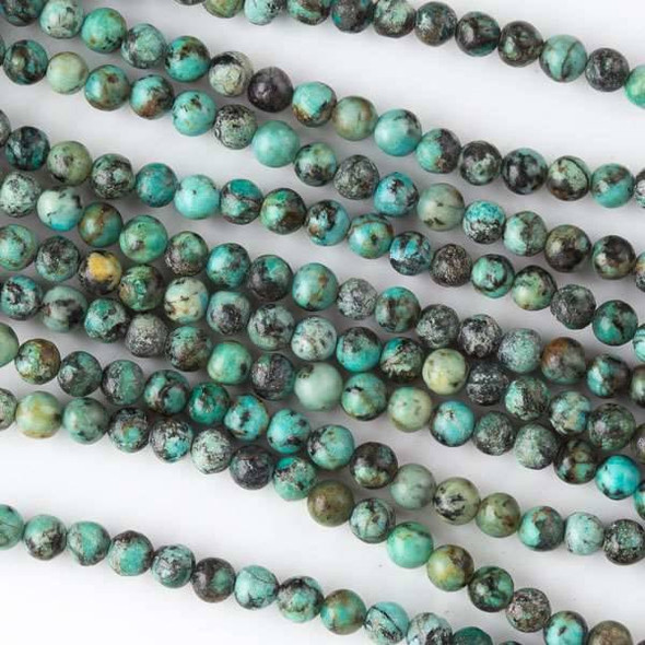 African Turquoise 4mm Rounds - 16 inch strand