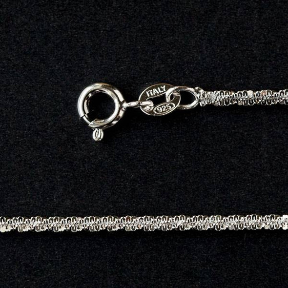"""Sterling Silver 2mm Rope Chain Necklace - 16"""" AG126-350X-ZC"""