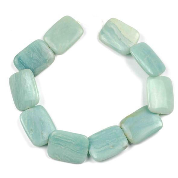 Amazonite 30x40mm Rectangle Beads - 15 inch strand
