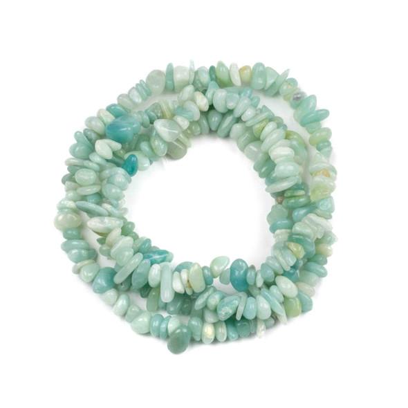 """Amazonite 5-8mm Chip Beads - 34"""" circular strand"""