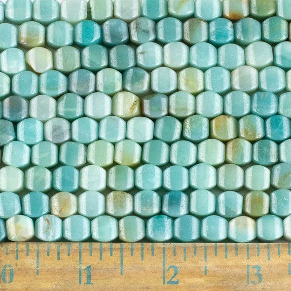 Amazonite 8mm Cushion Beads - approx. 8 inch strand, Set A