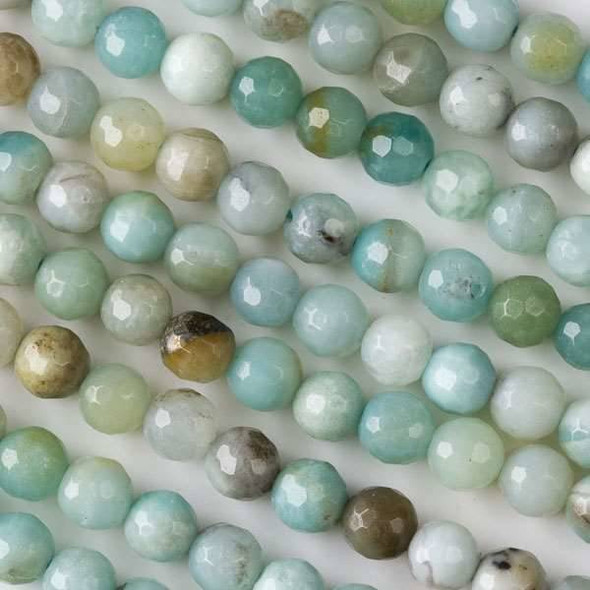 Amazonite 6mm Faceted Round Beads - approx. 8 inch strand, Set B