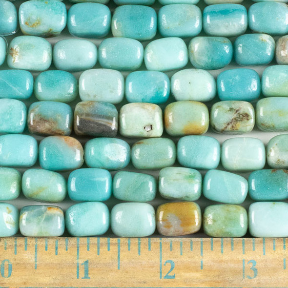 Amazonite 10x14mm Nugget Beads - approx. 8 inch strand, Set A