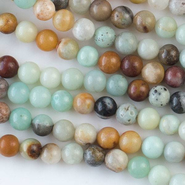 Multicolor Amazonite 6mm Round Beads - approx. 8 inch strand, Set A